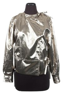 Isabel Marant Silk Metallic Gold Jacket