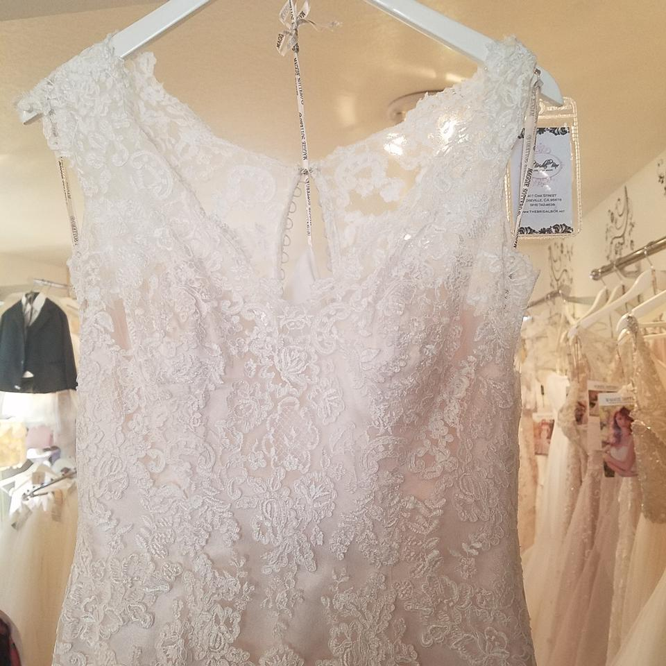 Maggie Sottero Lace Wedding Gown: Maggie Sottero Ivory Over Light Gold Lace Zalia Formal