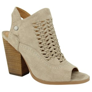 Not Rated Peep-toe Faux Leather taupe Pumps