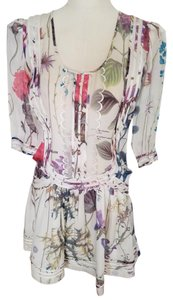 Roberto Cavalli short dress Cavalli Floral Silk Drop Waist on Tradesy