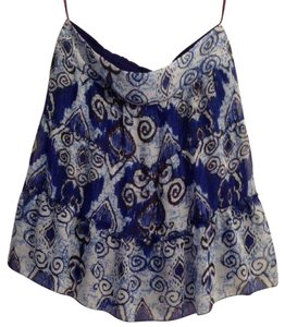 INC International Concepts Skirt Floral Festival, a Multi color print in blues, black & white