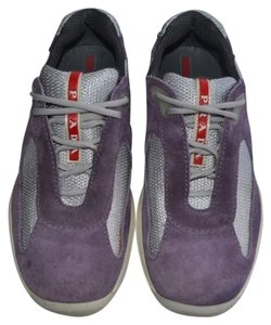 Prada Sneakers Suede Purple/Silver Athletic