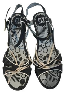 FLY London Blue/White Sandals