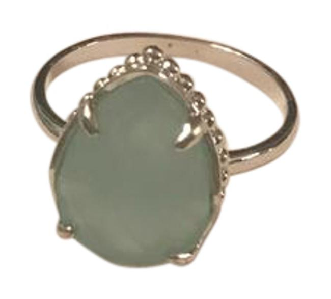 Item - Gold with Chalcedony Stone Daisy Color Bar Ring