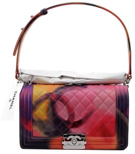Chanel Jumbo Le Boy Flower Power Shoulder Bag
