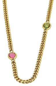 Tiffany & Co. 18844 - Green & Pink Tourmaline 18k Gold Long Necklace
