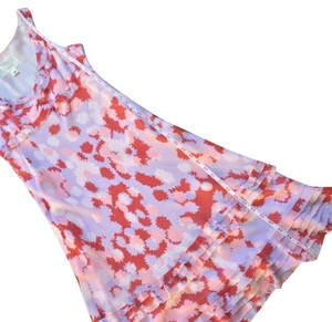 Anthropologie Silk V-neck Summer Floral Flowy Dress