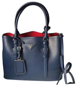 Prada Tote in navy blue