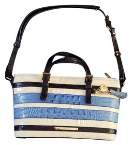 Brahmin Stripes Navy Nautical New With Tag Shoulder Bag