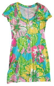 Lilly Pulitzer short dress Pulitzer Mini Floral Cotton Lilly on Tradesy