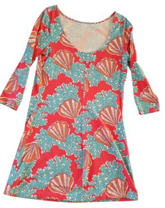 Lilly Pulitzer short dress Summer Cotton Coral on Tradesy