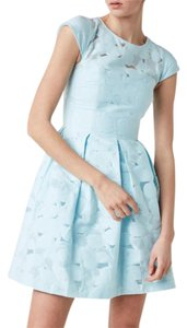 df4f36a17634e9 Ted Baker short dress baby blue Laureto Burn Out Floral Lace Party on  Tradesy