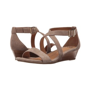 Söfft Wedge Suede Comfort Innis Heeled Taupe Sandals