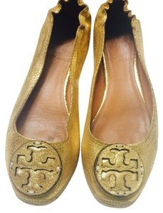 Tory Burch Gold Flats