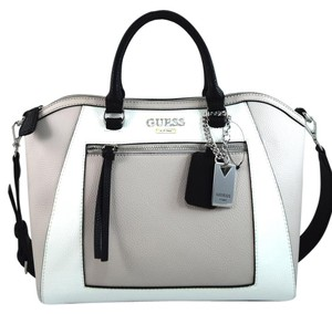 Guess Satchel in white/grey