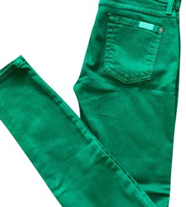 7 For All Mankind Skinny Pants Green