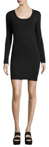 James Perse short dress Black Cotton Knit on Tradesy
