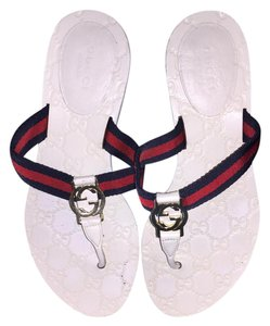 Gucci Comfortable Flip Flop Nice White/Blue/Red Sandals