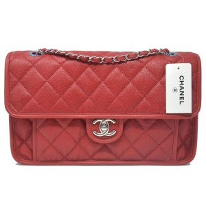 chanel Flap Caviar Leather Handbag Shoulder Bag