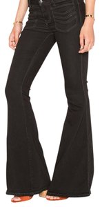 Free People Super Flare Pants Black