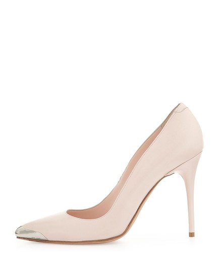 Alexander McQueen 100mm Pointy Toe Heel Classic Blush Pumps