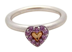 PANDORA Authentic Pandora Pink Heart Ring in Sterling Silver Size 7