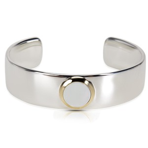 Tiffany & Co. Tiffany & Co. Mother of Pearl Cuff in 18K Yellow Gold & Sterling Silve