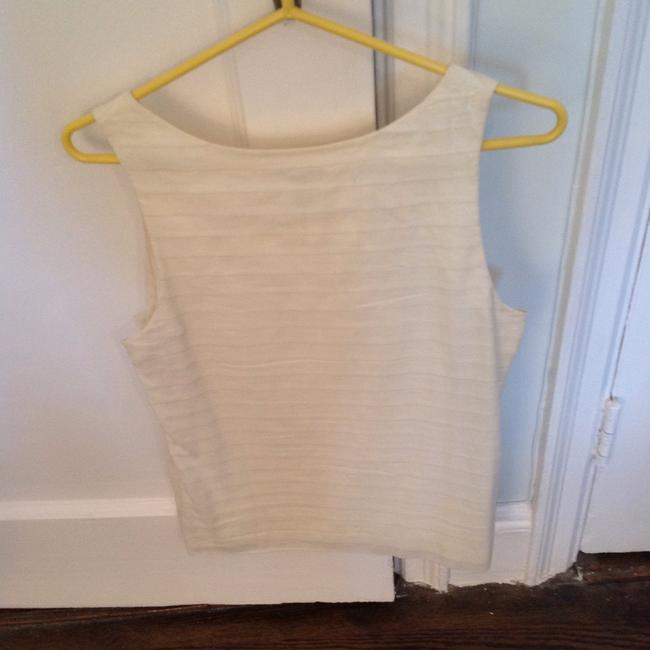 0552f95721c73 J.Crew Off White Pleated Sleeveless Blouse Size 8 (M) - Tradesy