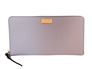 Kate Spade NY Newbury Lane Neda Phone Wallet NWT Pearl Grey Saff Leather