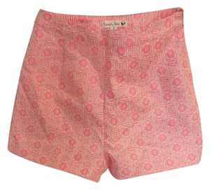 Double Zero Dress Shorts Pink and beige print