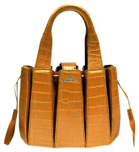 Domenico Vacca Alligator & Leather Tote in Pearlized Peach