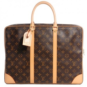LOUIS VUITTON Monogram Porte Documents Voyage Soft Briefcase Travel Bag