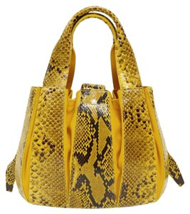 Domenico Vacca Dust Included Python & Leather Tote in Yellow