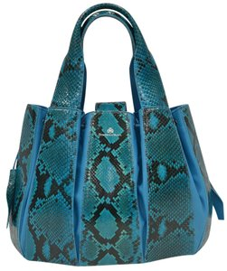 Domenico Vacca Dust Included Python & Leather Tote in Teal