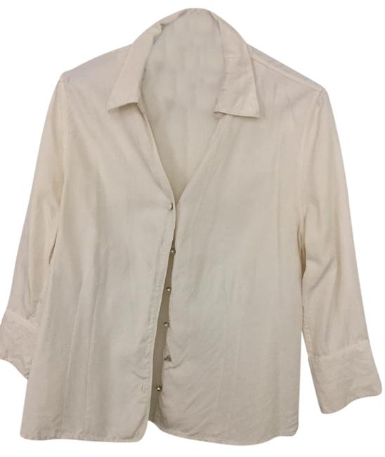 Item - Off White Button-down Top Size 8 (M)