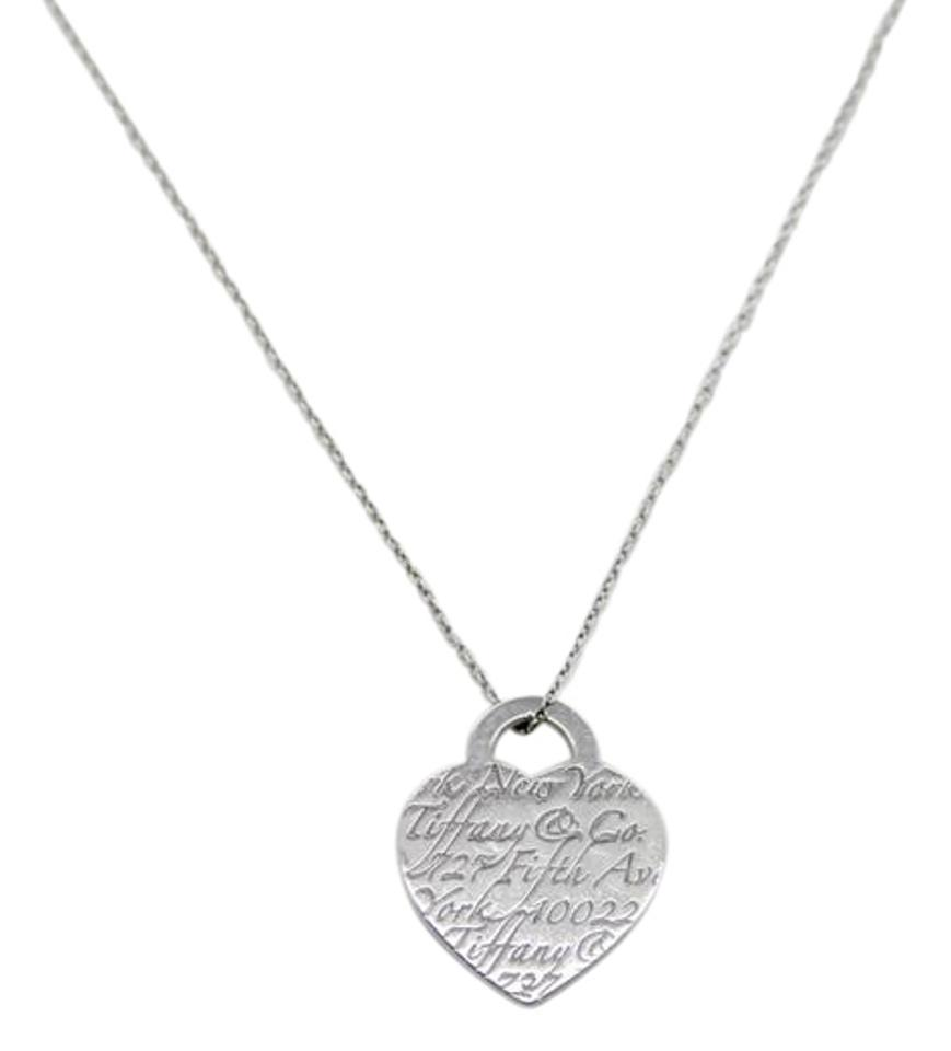 Tiffany co co sterling silver fifth ave ny notes heart pendant tiffany co tiffany co sterling silver fifth ave ny notes heart pendant necklace aloadofball Images