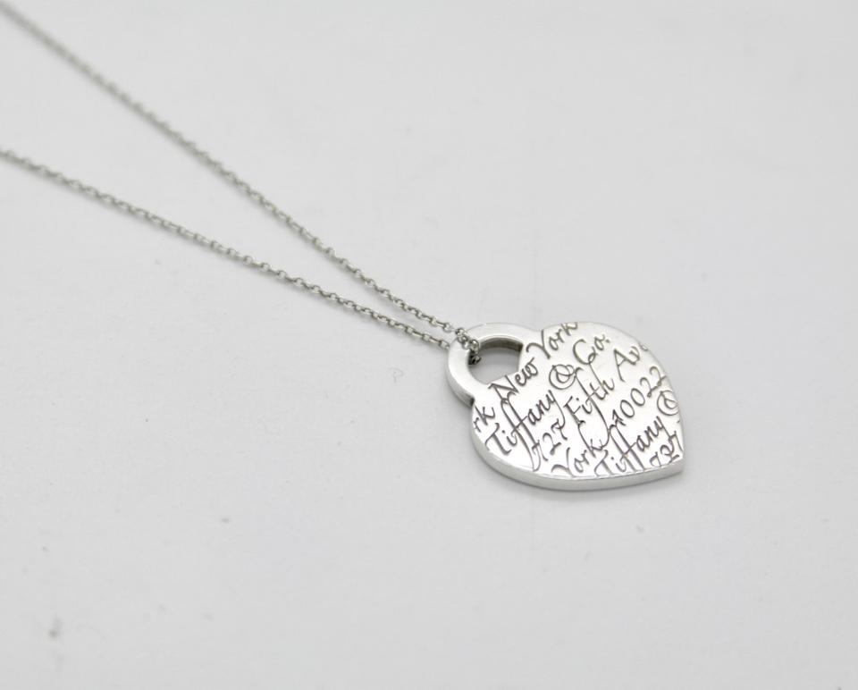 Tiffany co co sterling silver fifth ave ny notes heart pendant tiffany co sterling silver fifth ave ny notes heart pendant necklace 123456 mozeypictures Choice Image