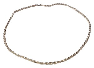Atelier Diagonal 18in Long 16.5gr Diamond Cut 925 Sterling Silver Espiga Necklace