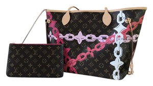 Louis Vuitton Neverful Mm Bay Print Monogram Tote