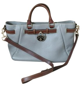 Dooney & Bourke And Samba Elephant Pebbled Leather Satchel Tote in Gray