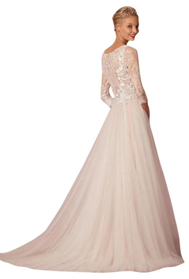 BHLDN Cream Nylon Lace Tulle Polyester Charmeuse Lining Amelie ...
