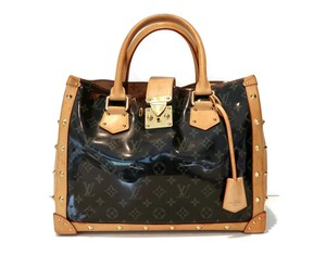 Louis Vuitton Studded Clear Monogram Pvc Tote in Brown