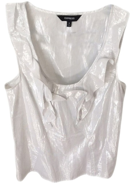 Preload https://item2.tradesy.com/images/express-silver-blouse-size-4-s-2136876-0-0.jpg?width=400&height=650
