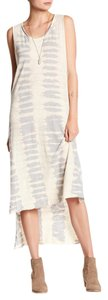 Ecru, tan, grey Maxi Dress by LAmade Boho Haute Look Tie Dye Beach