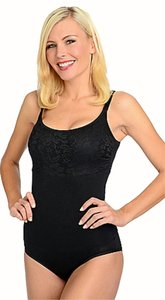 Niki Bridges Slimming Lace Adjustable Stretchy Top black