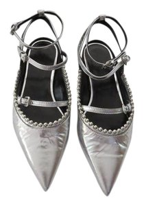 MCQ by Alexander McQueen Chic Accent Details Made In Italy Silver Flats