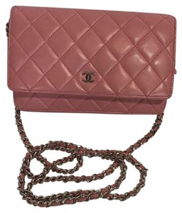 Chanel Chanel Wallet On A Chain Pink Quilted Lambskin Woc Shoulder Bag
