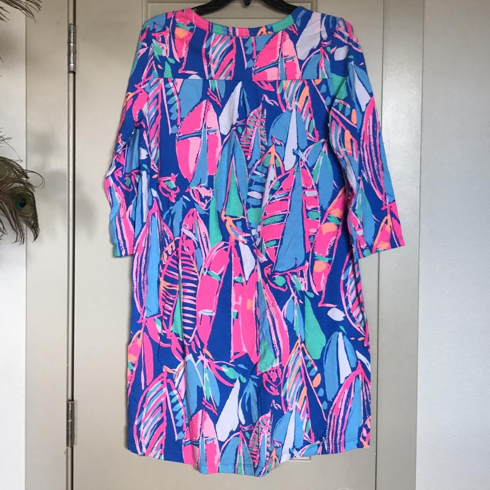 63746b6aec7ee4 Lilly Pulitzer short dress Bay Blue, Out To Sea print on Tradesy Image 7.  12345678