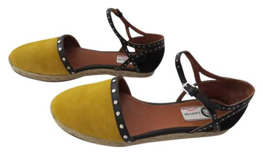 Preload https://img-static.tradesy.com/item/21369017/lanvin-yellow-flat-head-stud-accented-two-tone-suede-espadrille-sandals-size-eu-40-approx-us-10-regu-0-1-540-540.jpg