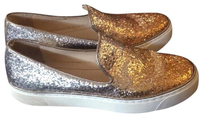 Item - Silver/Gold Ombré Sneakers Size US 7.5 Regular (M, B)